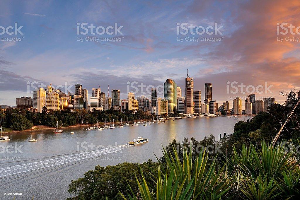 Australia Landscape : Brisbane City Skyline stock photo