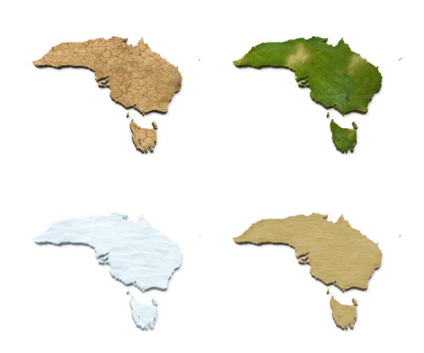 3D Australia Map stock photo