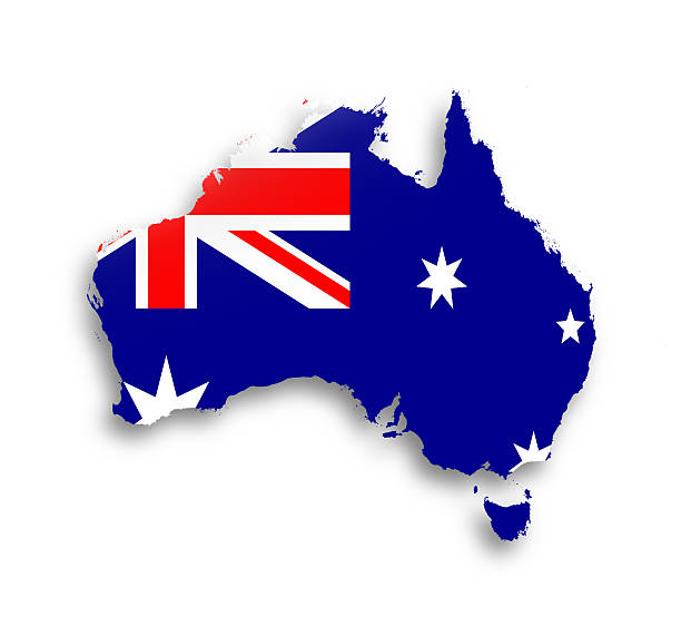 australia-map-with-the-flag-inside-picture-id184773593