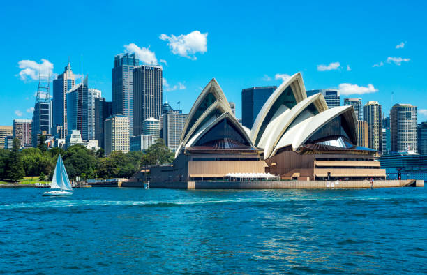 Australia, natural and urban landscapes stock photo