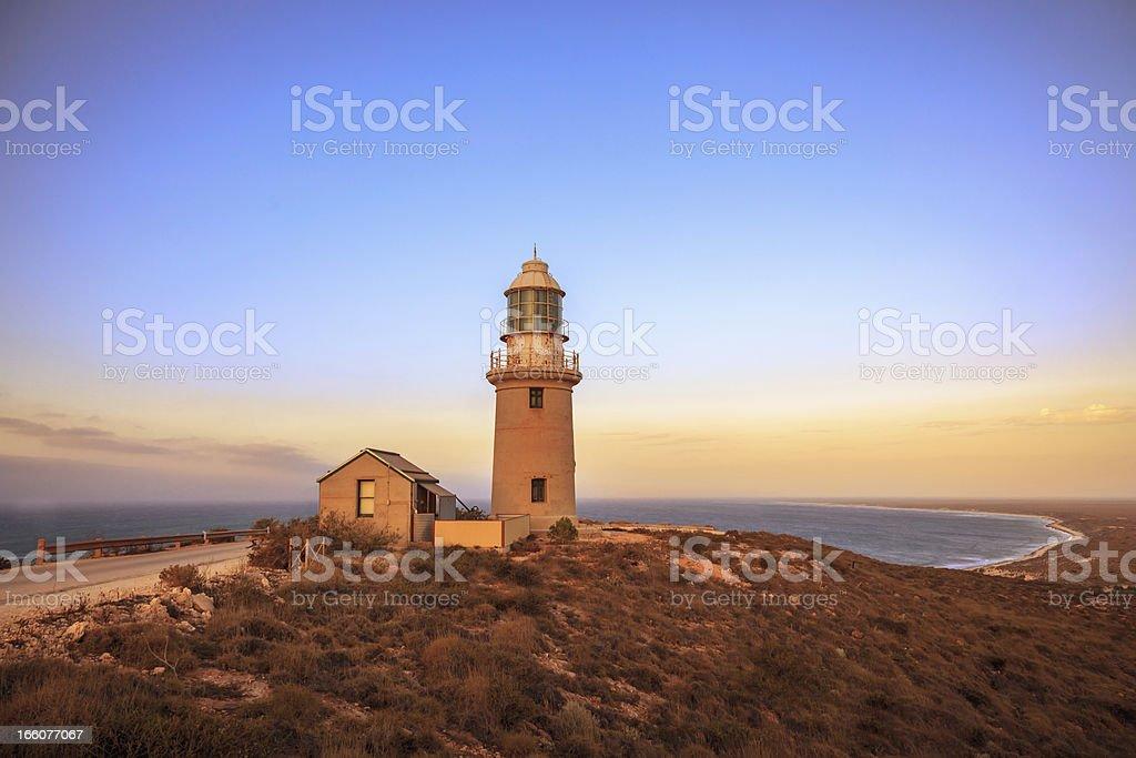 Australia Ningaloo Lighthouse Twilight stock photo
