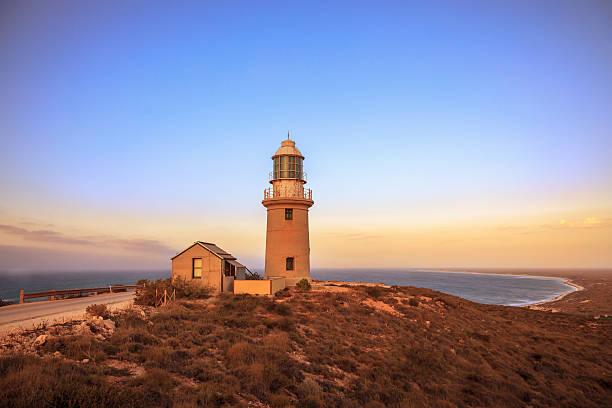 australia ningaloo lighthouse twilight - western australia stock pictures, royalty-free photos & images