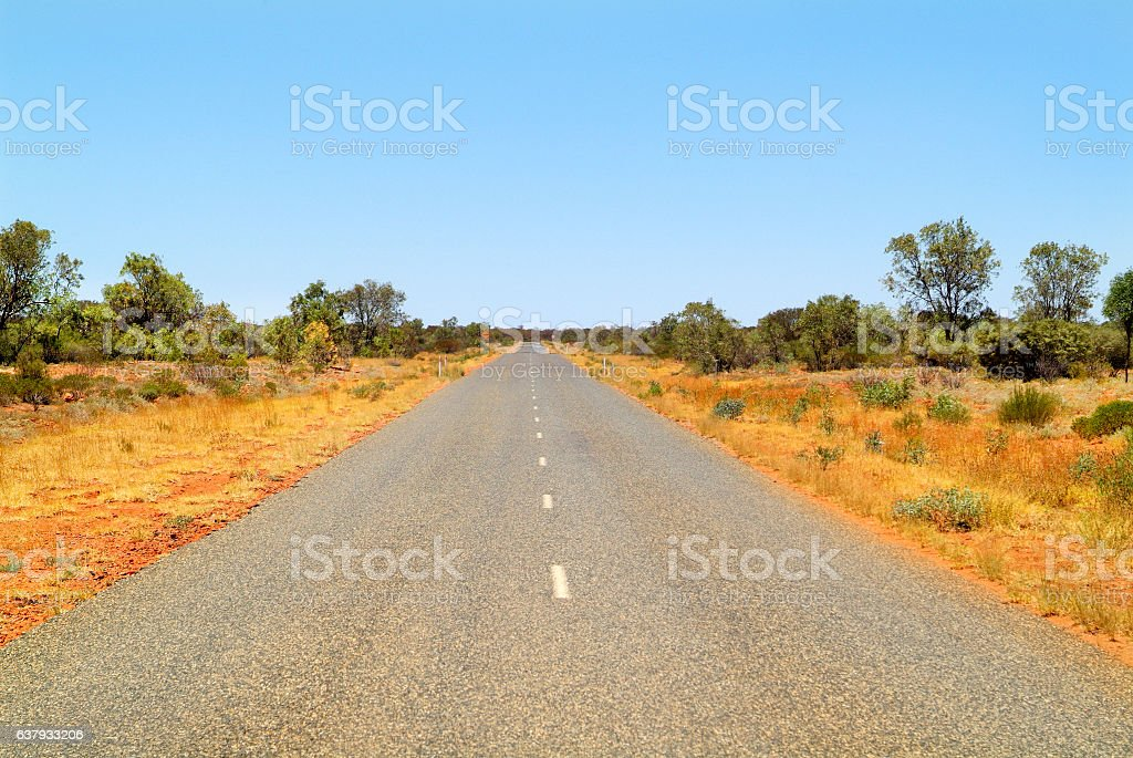 Australia, NT, road stock photo