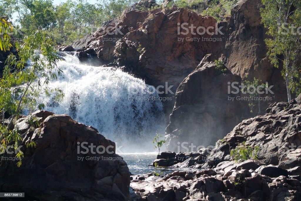 Australia, NT, Waterfall stock photo