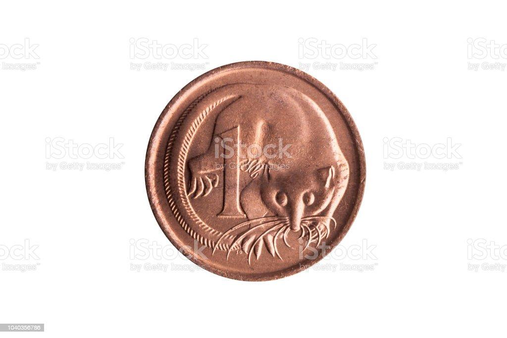 Australien 1 Cent Cent Münze Mit Einem Bild Eines Segelflugzeugs