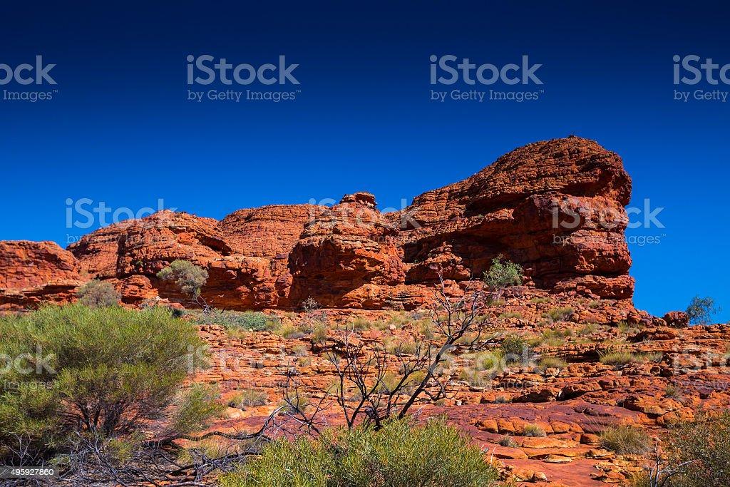 Australia outback landscape stock photo