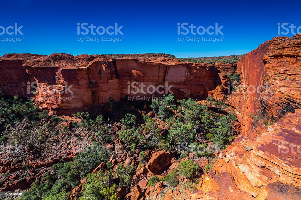 Australia outback landscape stock photo