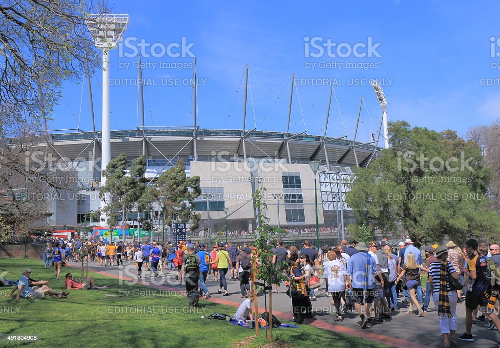 MCG AFL Australia stock photo
