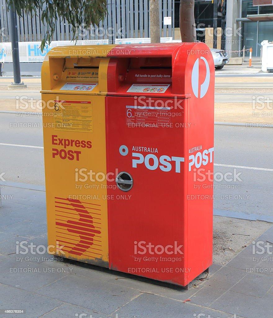 Australia post mail box stock photo