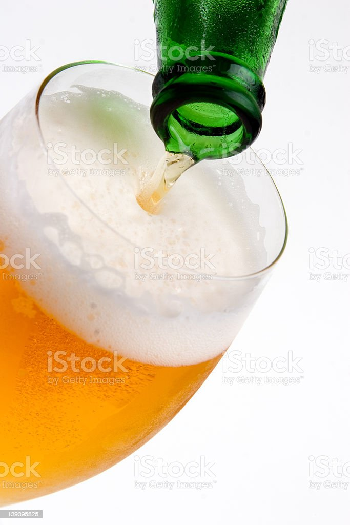 Australia - pouring the Lager royalty-free stock photo