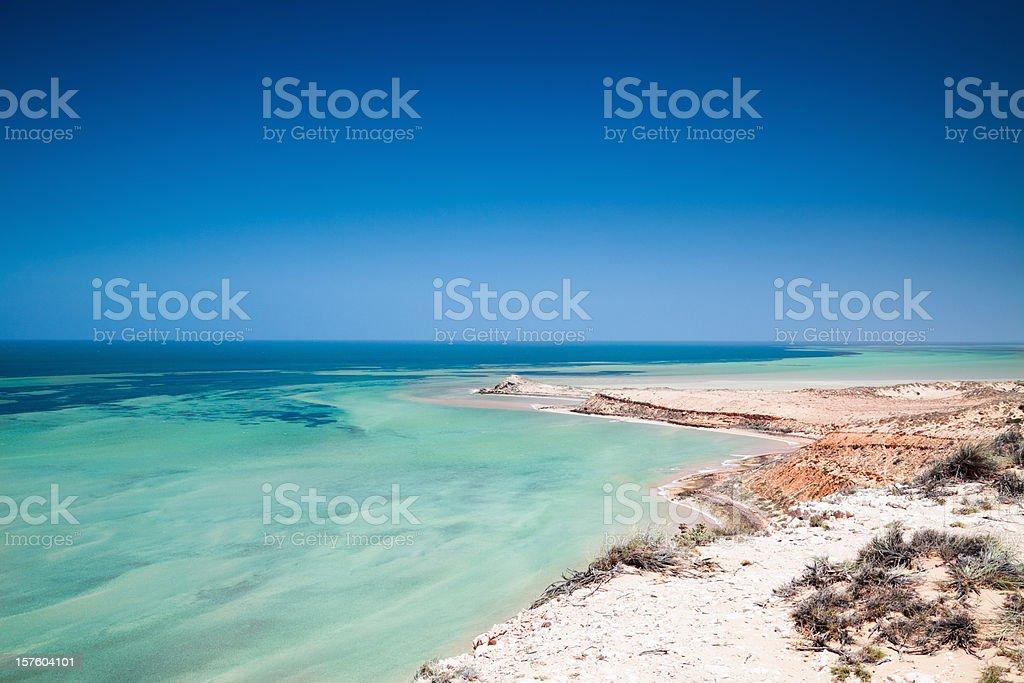 Australia Shark Bay World Heritage Site stock photo