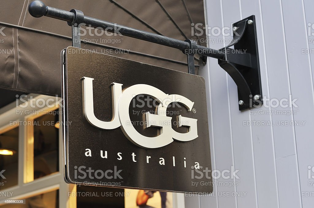 UGG australia sign stock photo