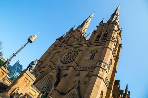 Australia: St. Mary's Cathedral stock photo