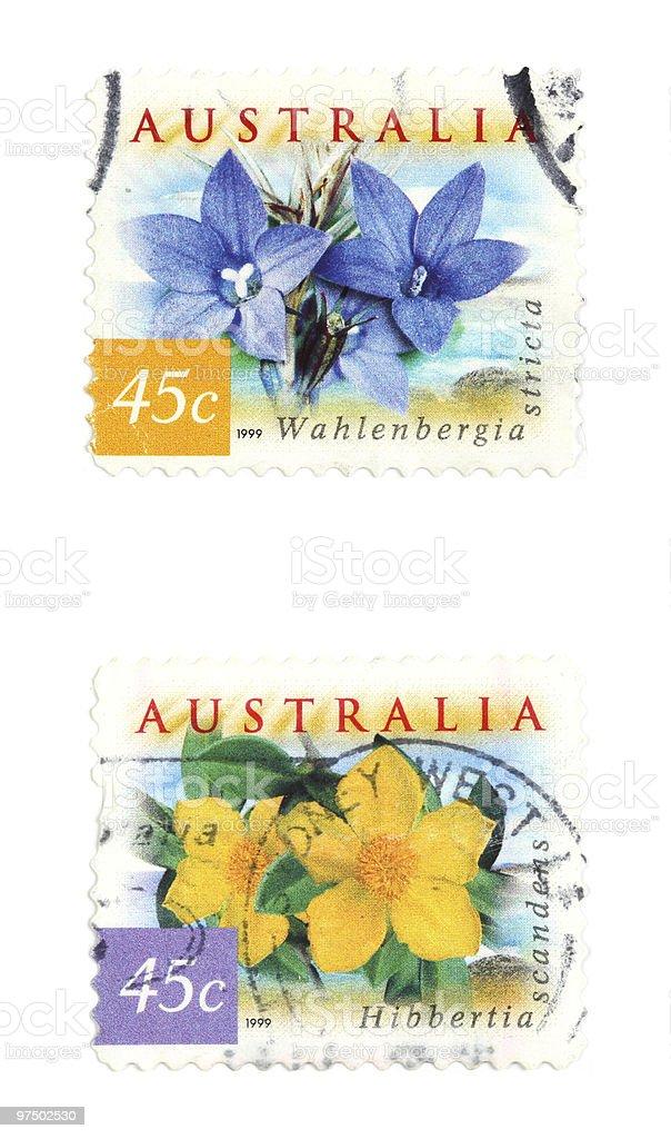 Australia stamps royalty-free stock photo