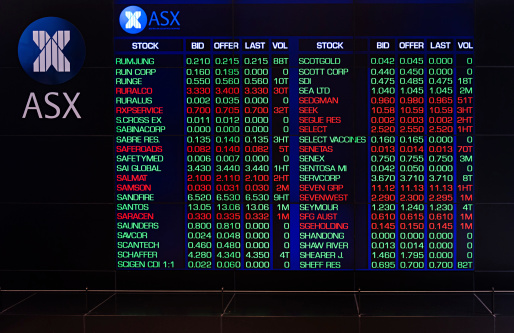 Asx Australia Stock Exchange Stock Photo - Download Image