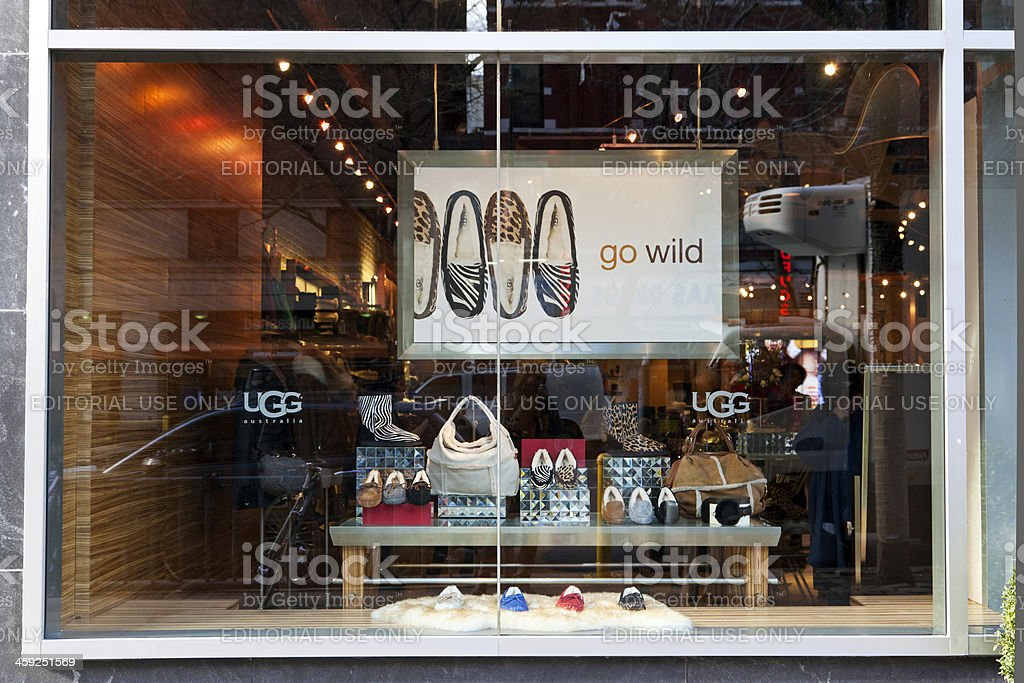 UGG Australia store NYC stock photo