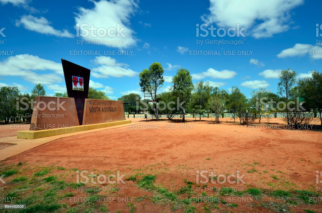 Australia, Stuart Highway, Border stock photo
