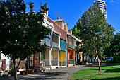 Australia, residential row houses in Wooloomooloo district in Sydney
