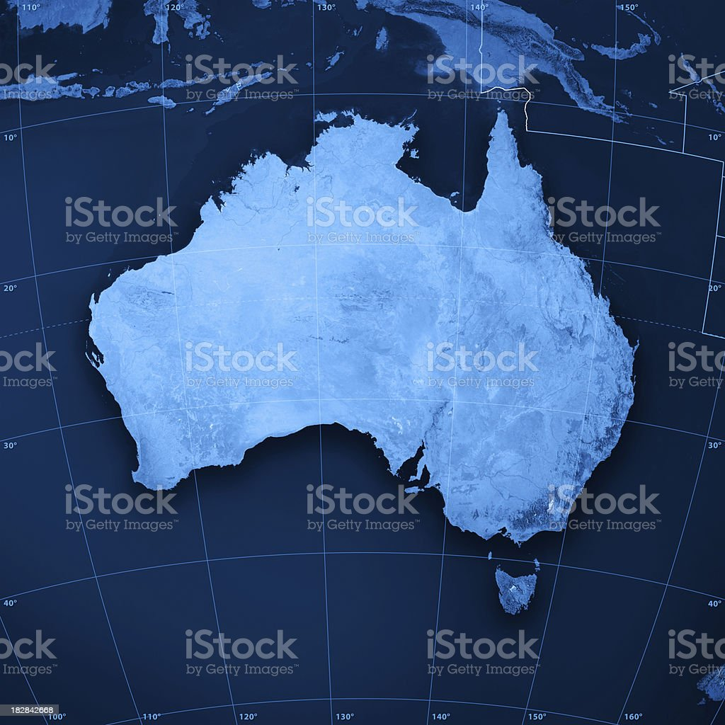 Australia Topographic Map stock photo