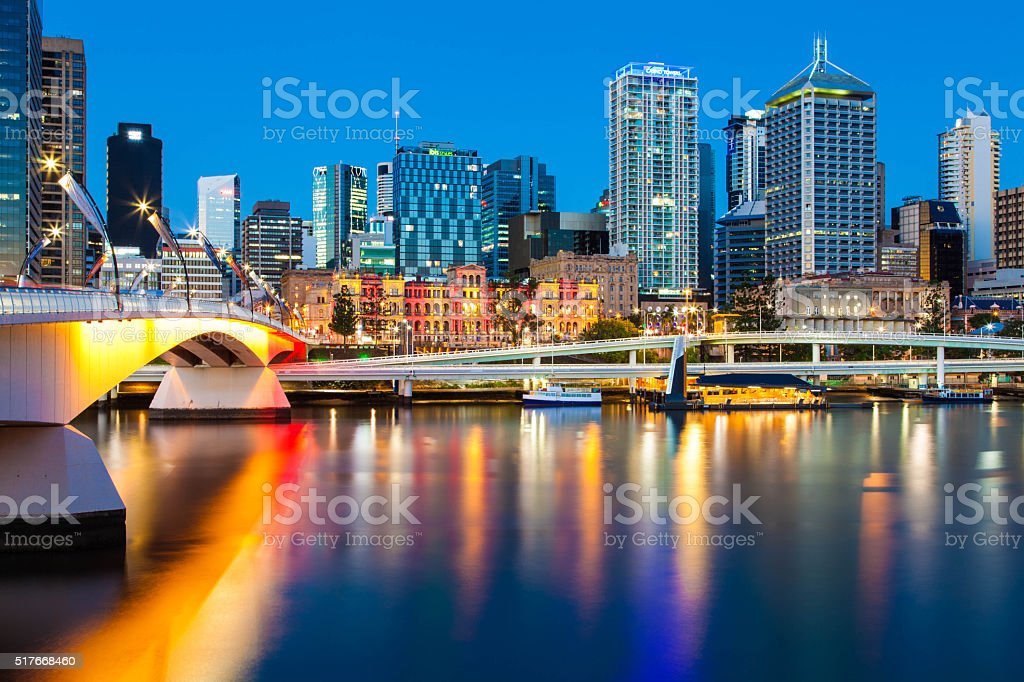 Australia, Victoria Bridge. Brisbane stock photo