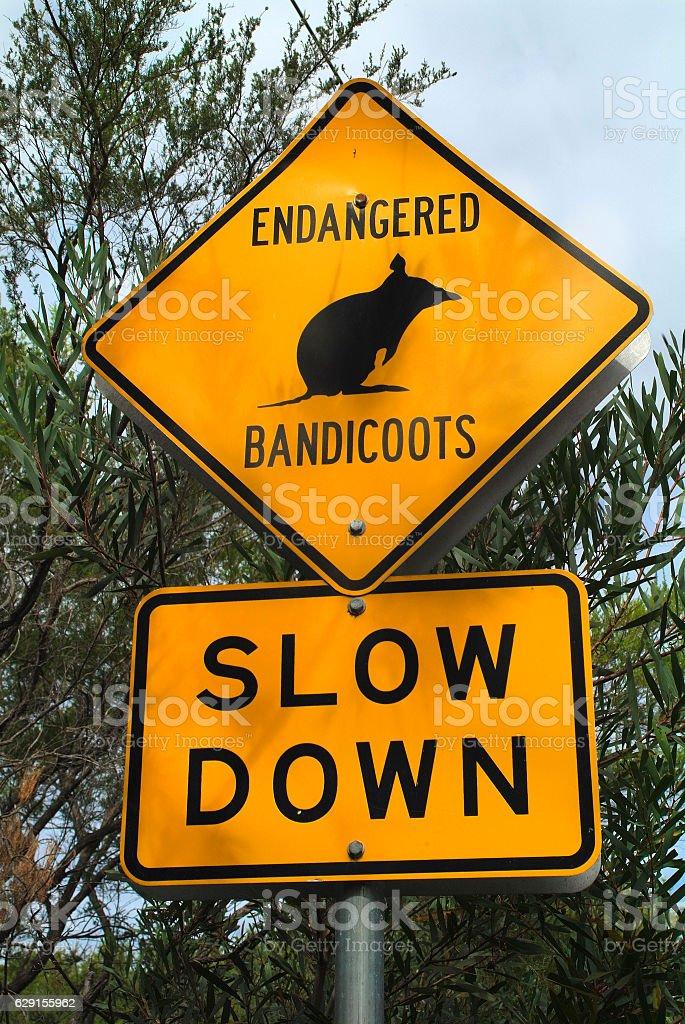 Australia, Warning Sign stock photo