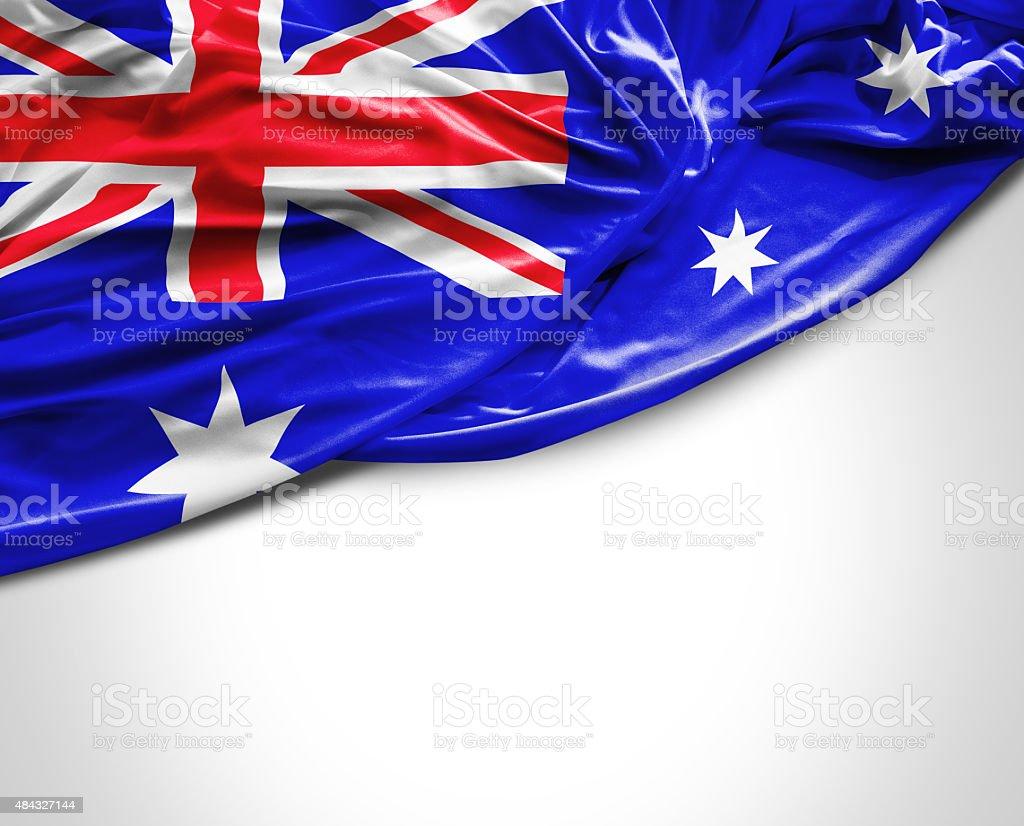 Australia waving flag on white background stock photo