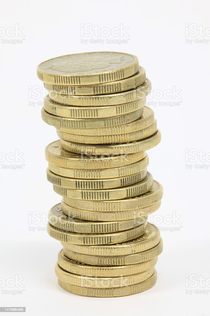 Australian $1 coins stock photo