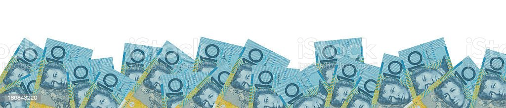 Australian 10$ panorama isolated (clipping path included) stock photo
