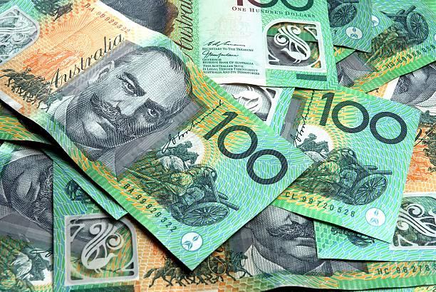 Australian 100 dollar notes stock photo