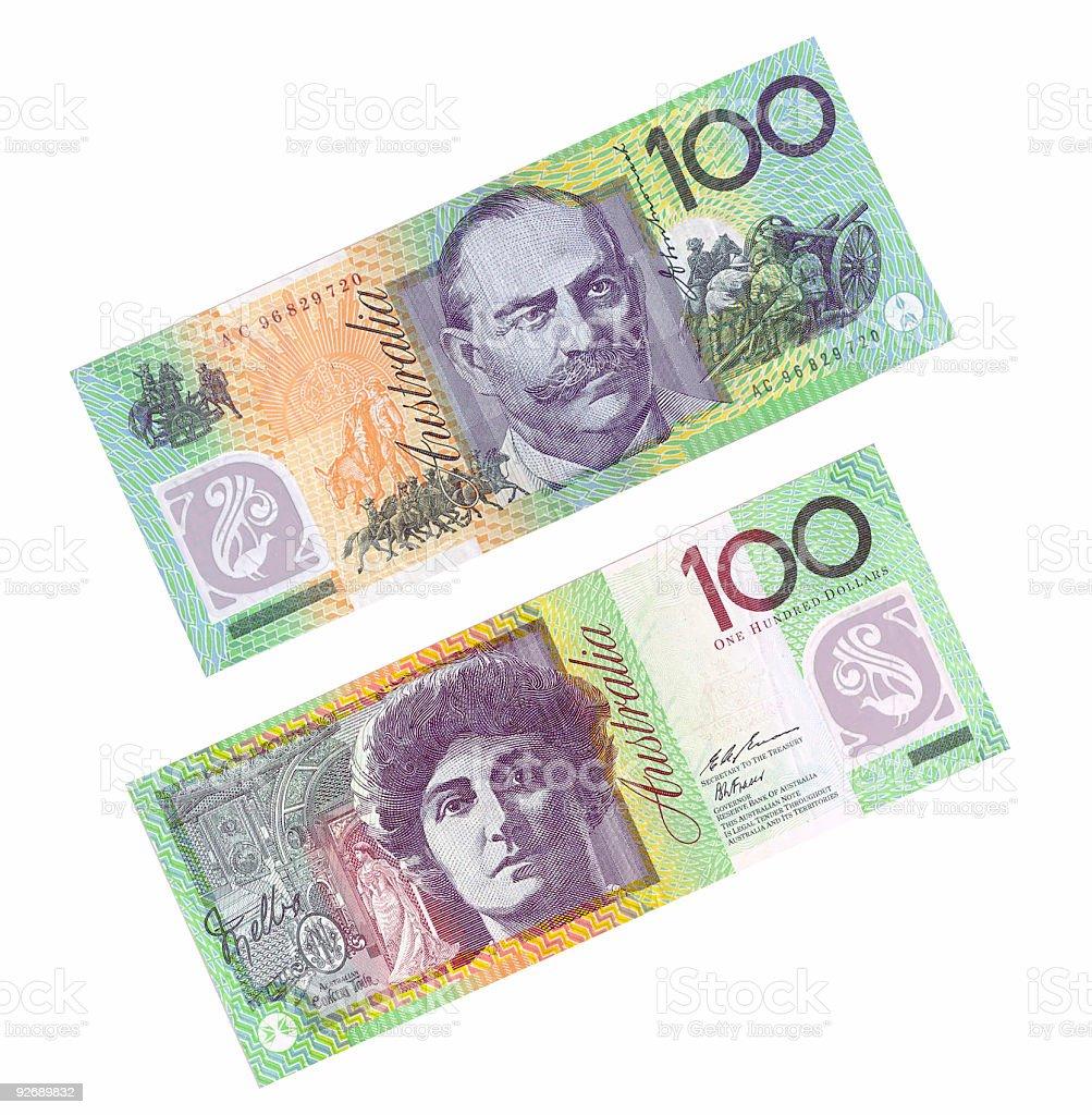 australian $100 note stock photo