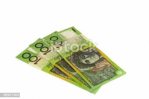 A little fan of Australian $100 notes.