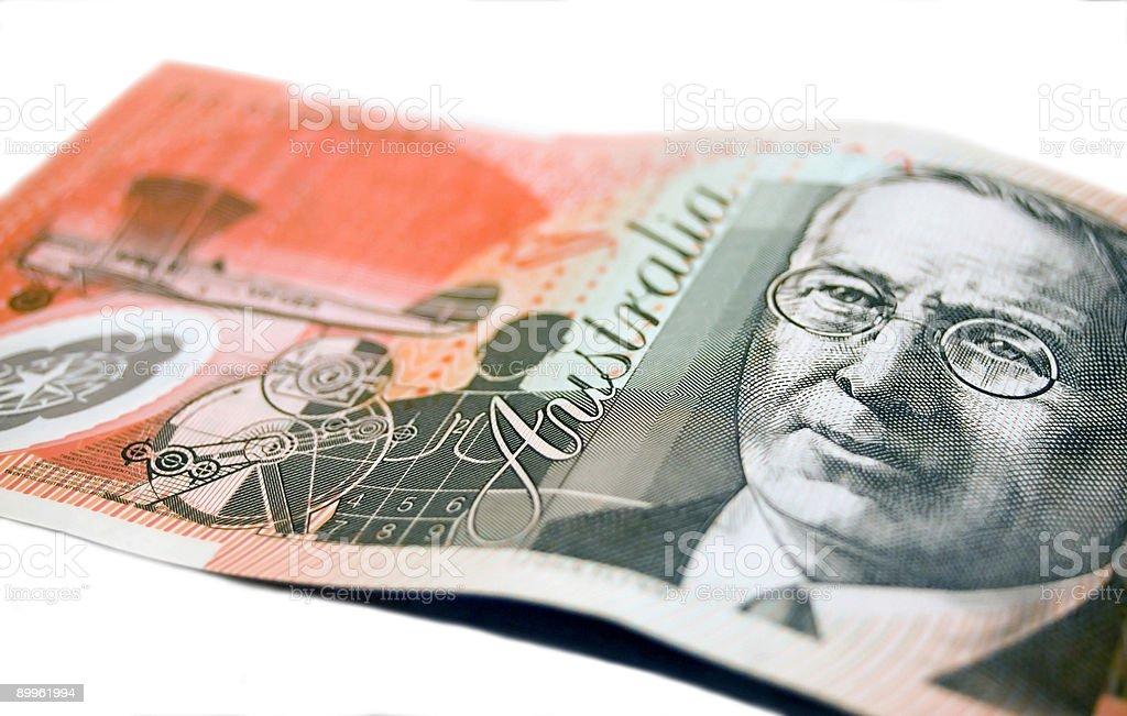 Australian 20 dollar note royalty-free stock photo