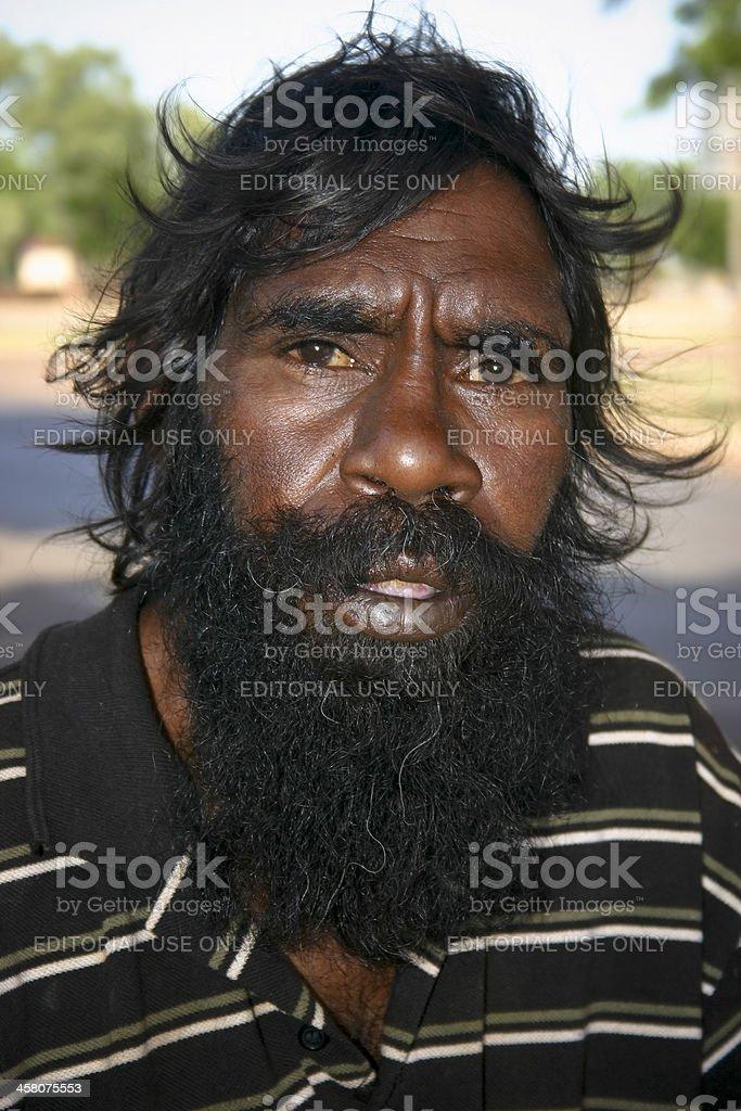 Australian Aboriginal Man stock photo