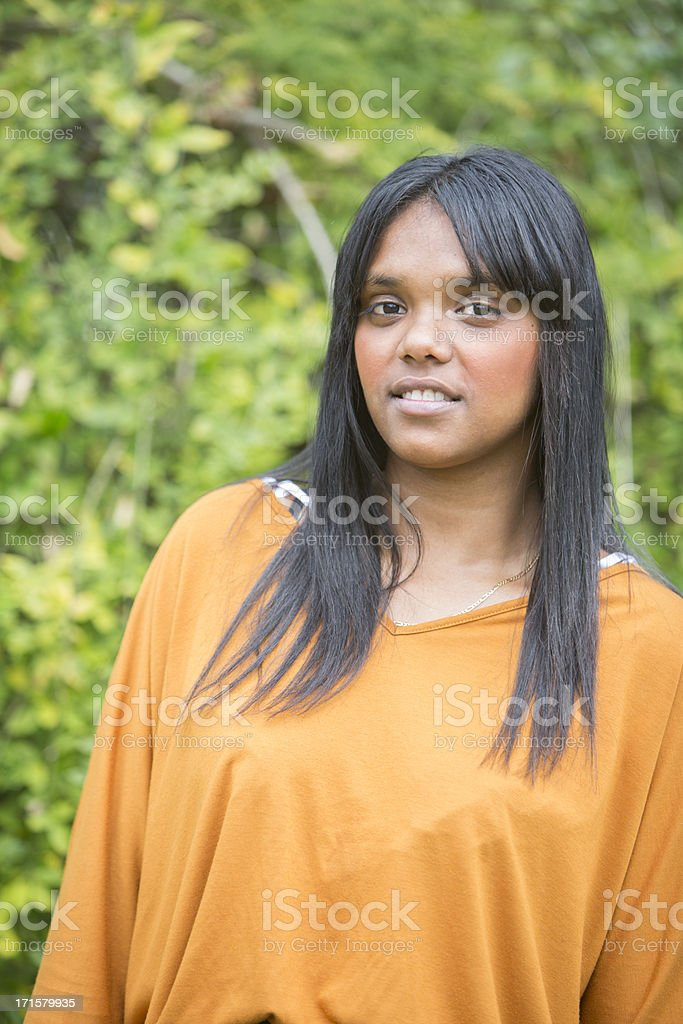 Australian Aboriginal Woman stock photo