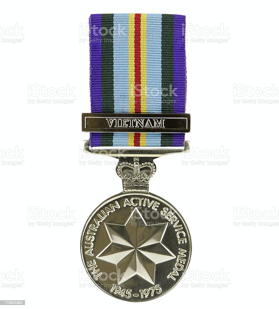 Australian Active Service Medal stock photo
