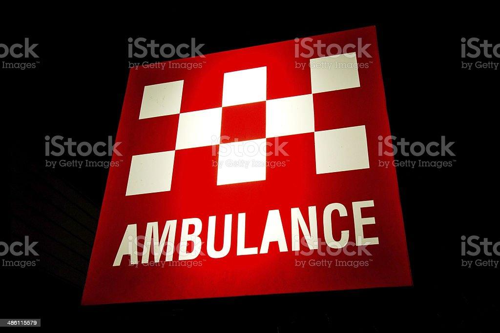Australian Ambulance Post stock photo