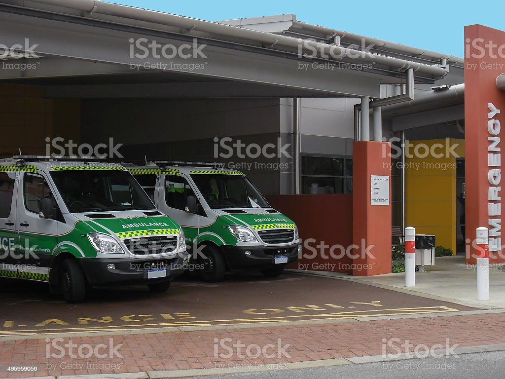 Australian Ambulances Mean To Be Seen stock photo