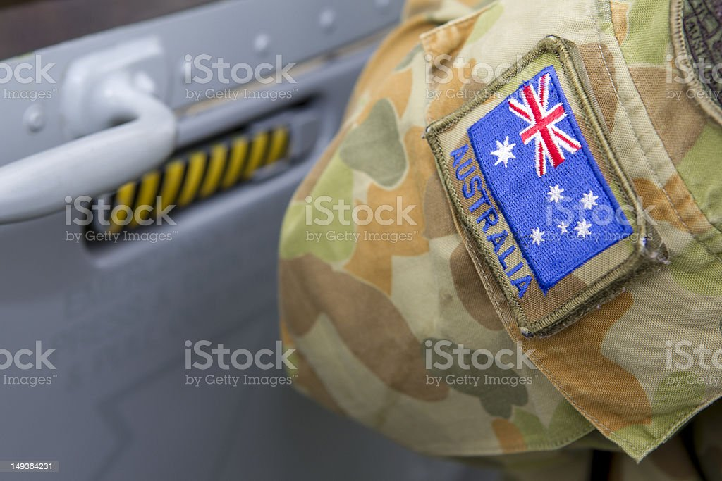 Australian arm band stock photo