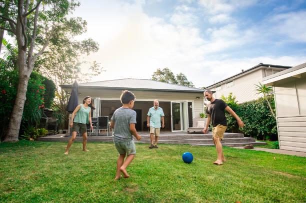 Australische Hinterhof Fußball – Foto