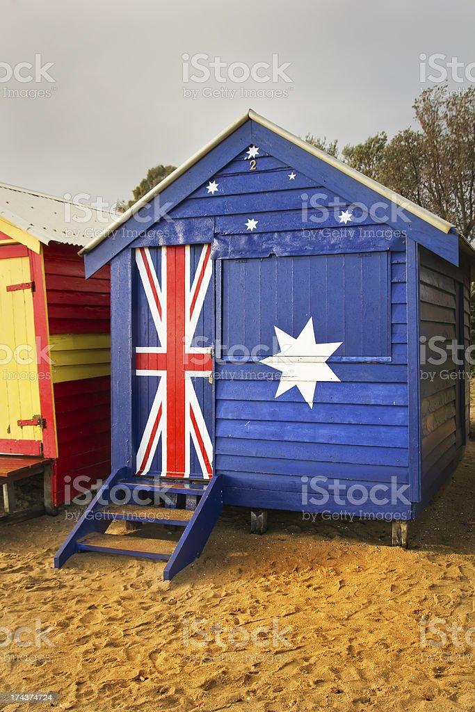 Australian bathing box royalty-free stock photo