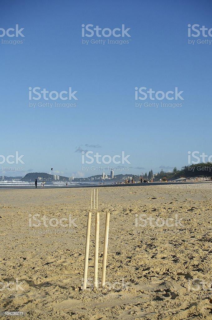 australian beach cricket stock photo