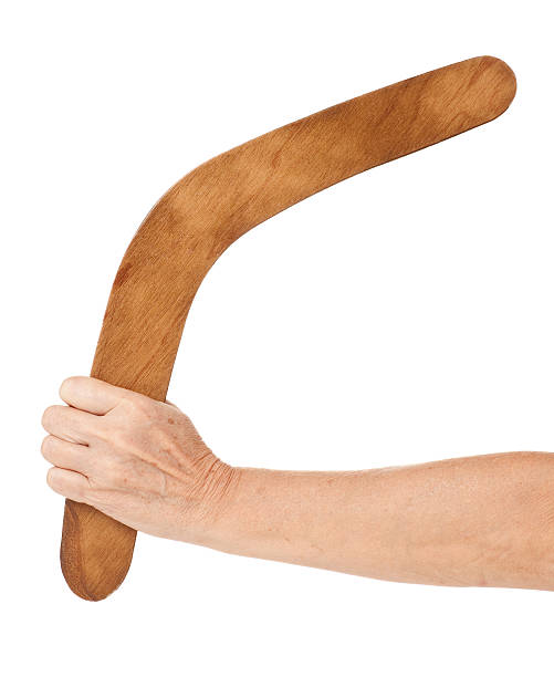 Australian boomerang lancer. - Photo