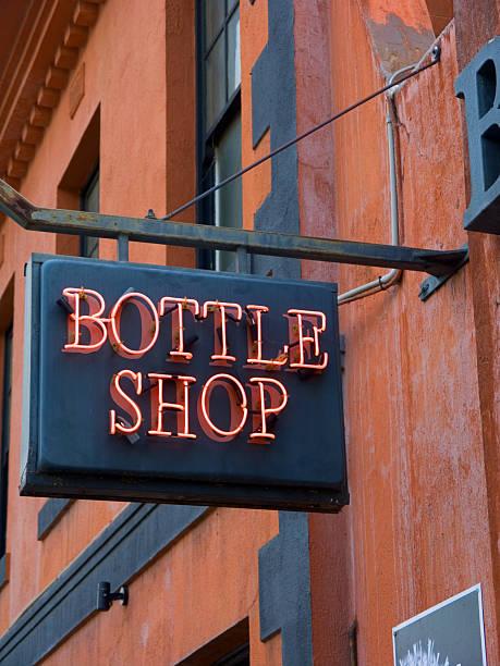 Australian Bottle Shop Sign stock photo