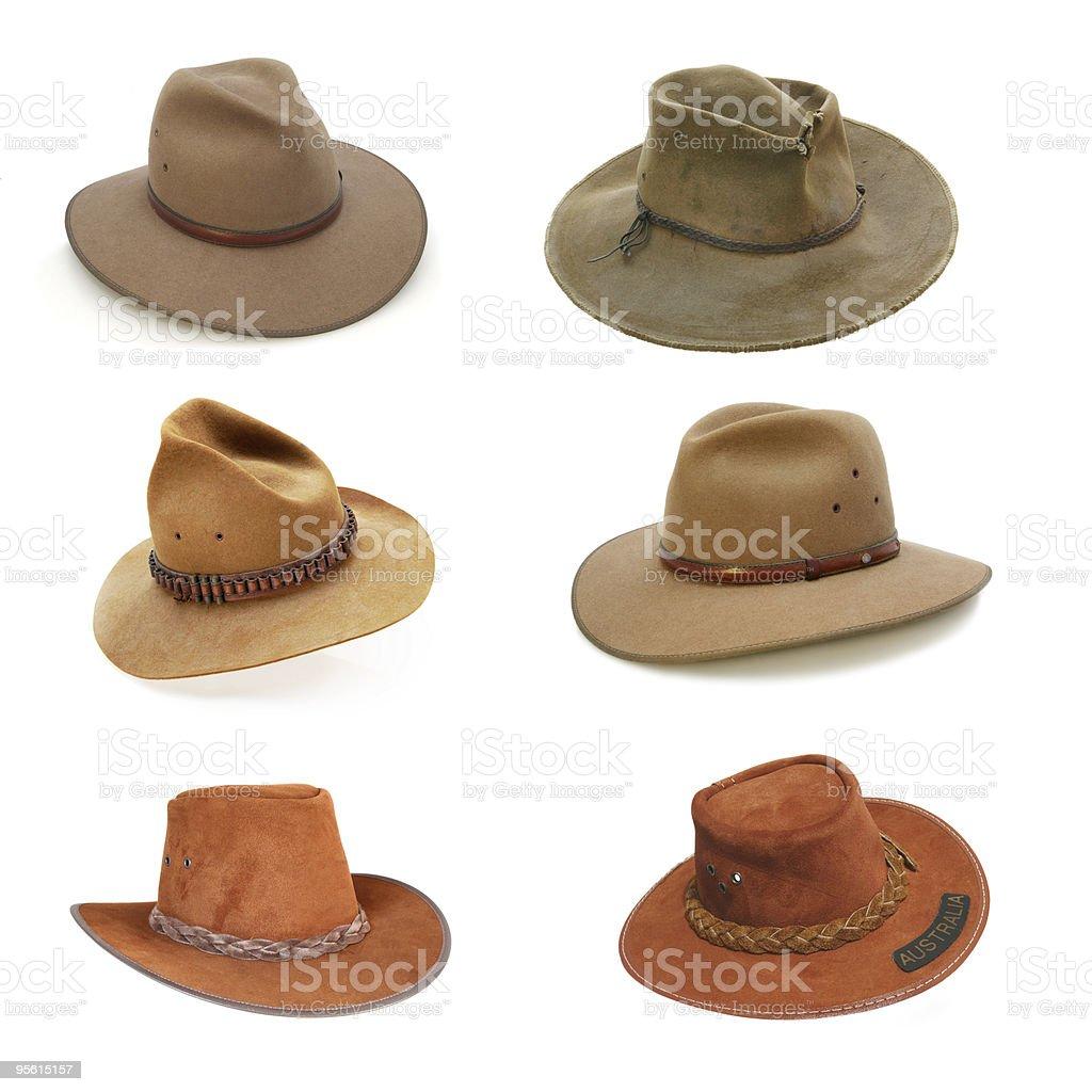 Australian bush hats stock photo
