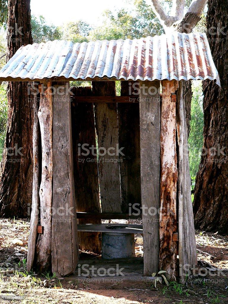 Australian bush toilet stock photo