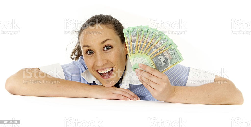 Australian Cash royalty-free stock photo