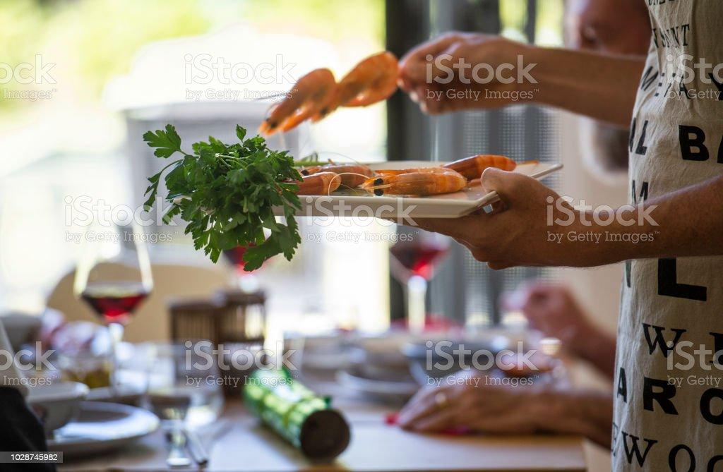 australian christmas lunch royalty free stock photo