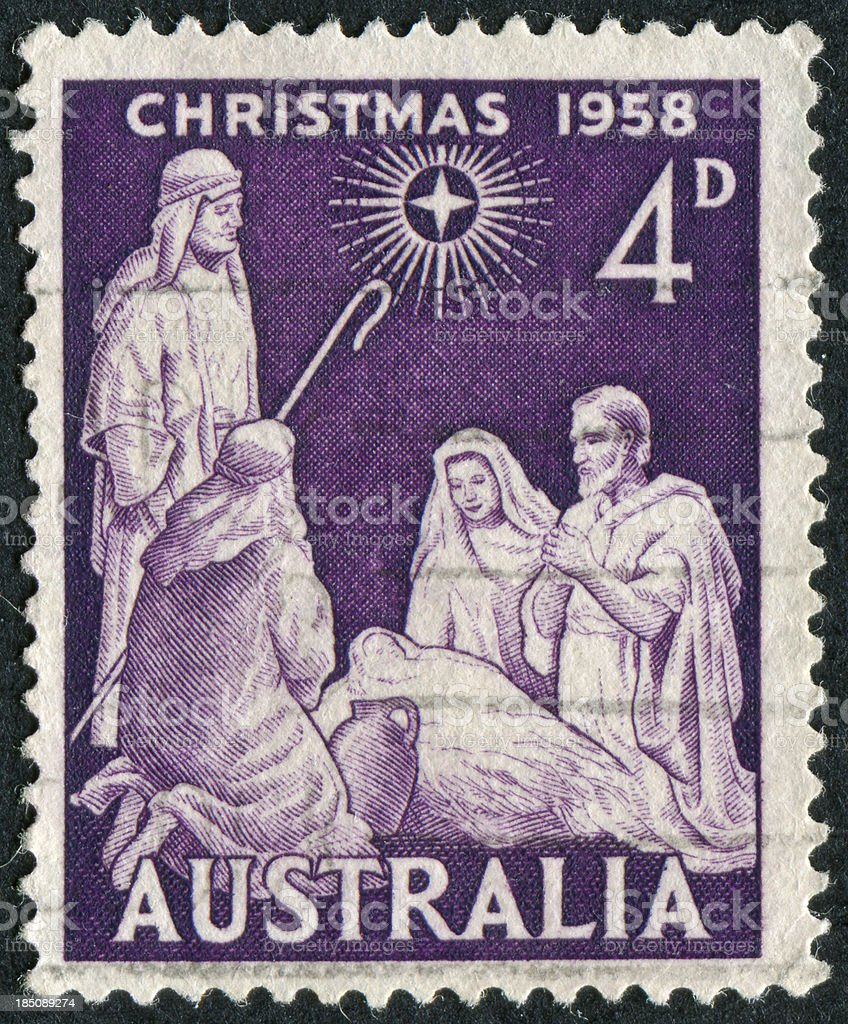 Australian Christmas Stamp royalty-free stock photo