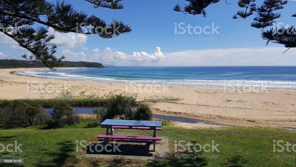 Australian Coastline Blackhead Beach stock photo