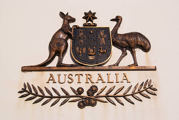 Australian Coat of Arms stock photo